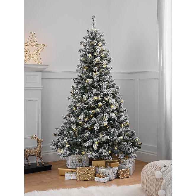 6ft Pre Lit Snowy Pine Christmas Tree Christmas George At Asda