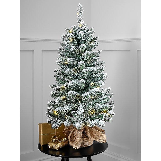 3ft Pre Lit Snowy Christmas Tree Christmas George At Asda