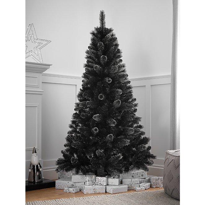 6ft Black Cashmere Christmas Tree Christmas George At Asda
