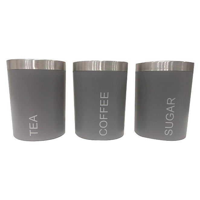 Grey Canisters Set Of 3 Home George At Asda