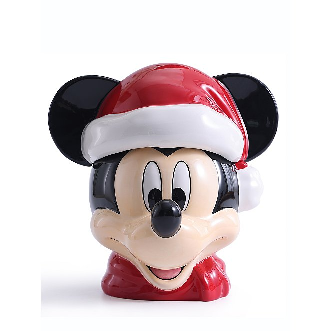 Red Christmas Disney Mickey Mouse Cookie Jar Home George At Asda
