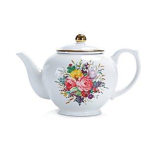 Multi Bloom Print Teapot Home George At Asda