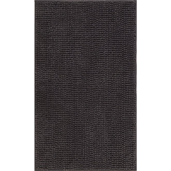 chenille bath mat charcoal