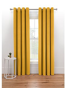 Honey Matte Velvet Pleated Curtains Home George At Asda