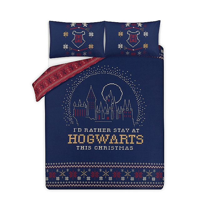 Harry Potter Reversible Xmas Duvet Set