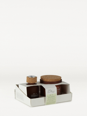 Just Wellness Mint & Eucalyptus Glass Candle & Reed Gift Set