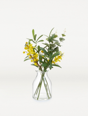 Artificial Yellow Flowers In Vase 43cm