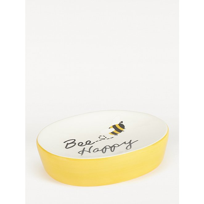 Yellow Bee Happy Soap Dish Home George At Asda