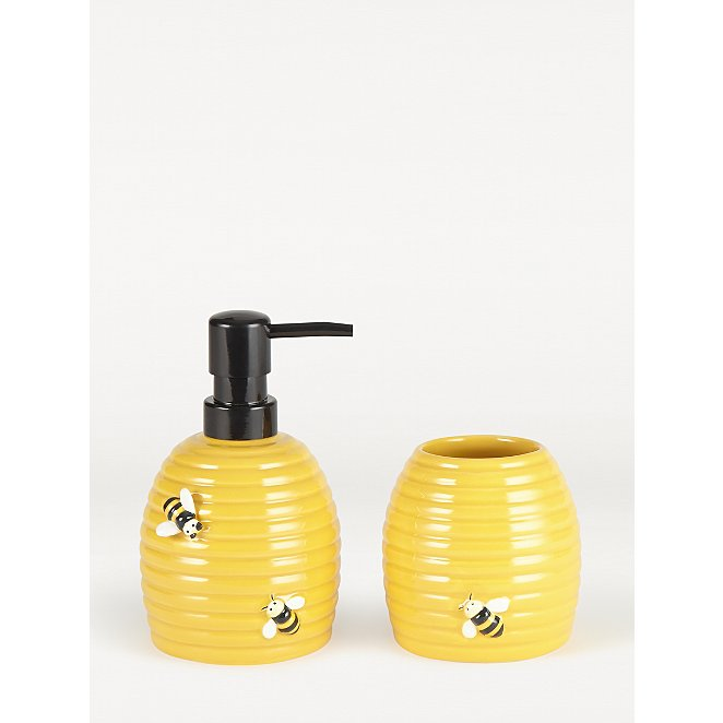 Yellow Bee Dispenser And Tumbler Set Home George At Asda