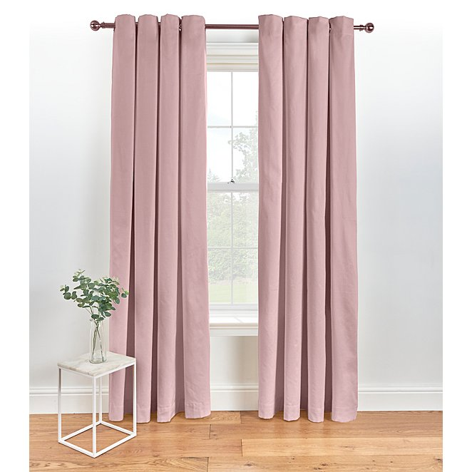 Pink Eyelet Curtains Home George