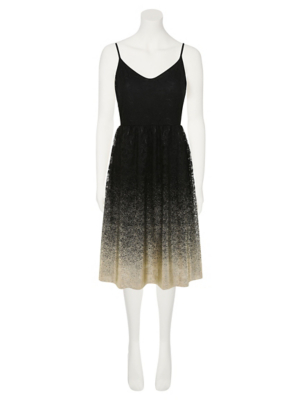 Gold black dress asda clothing