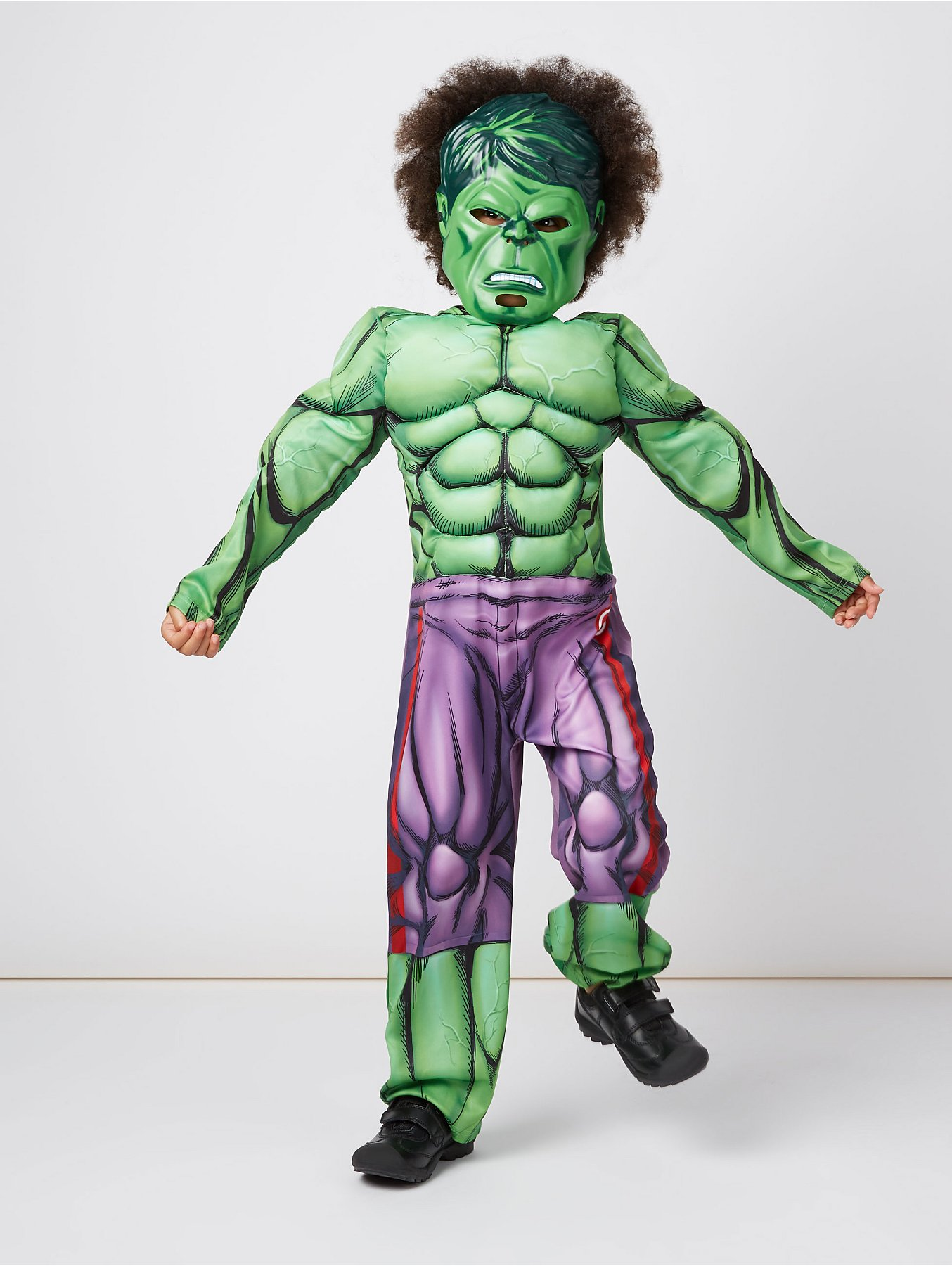 Marvel Avengers Hulk Fancy Dress Costume Kids George