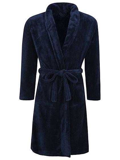 Navy Fleece Dressing Gown | Men | George
