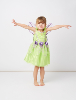 & Disney Fairies Tinkerbell Fancy Dress Costume | Kids | George