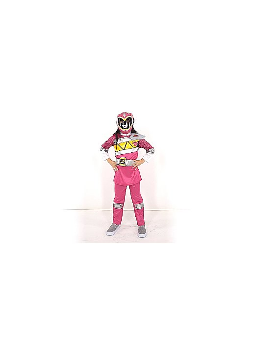 Pink Power Rangers Dino Charge Fancy Dress Costume Kids George