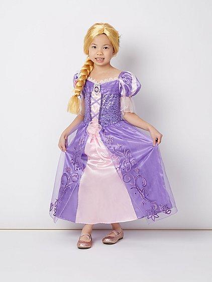 disney princess rapunzel fancy dress costume kids george
