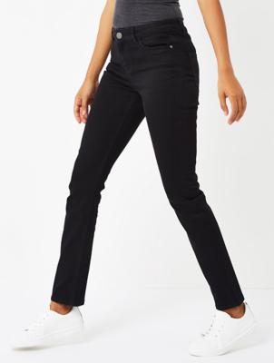 Black Straight Fit Denim Jeans