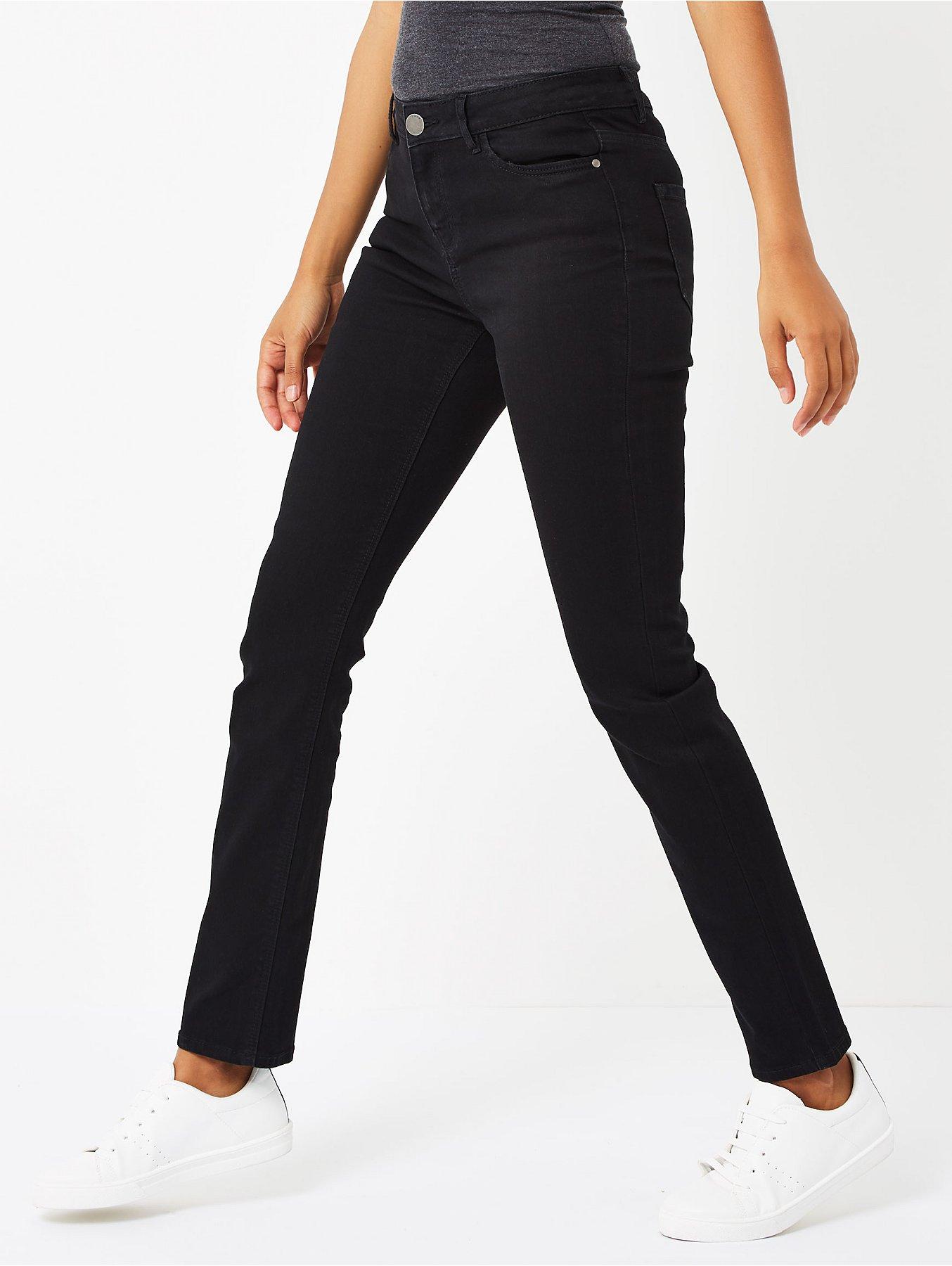 839d3f6b486 Black Straight Leg Jeans. Reset