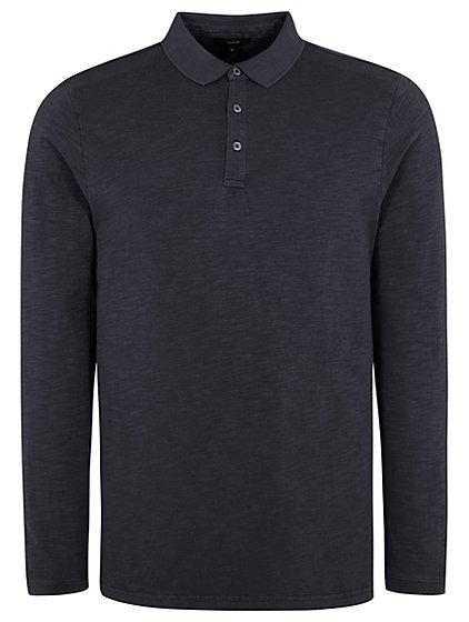 Long Sleeve Polo Shirt Men George