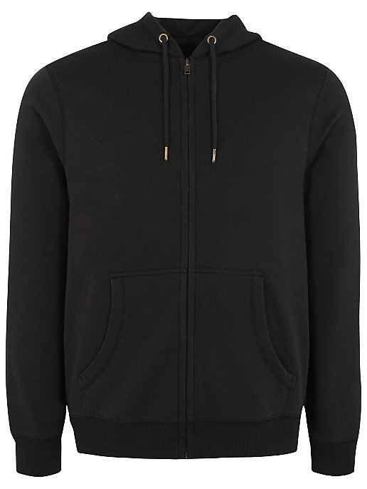 Black Zip Through Hoodie. Reset 1004a36b897e