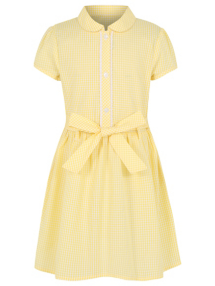 Image result for yellow gingham school dress