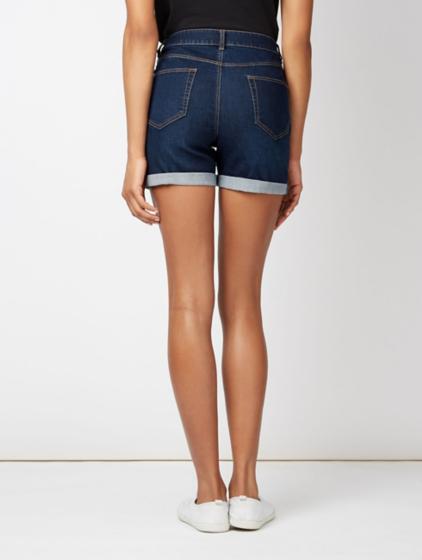 denim shorts � dark wash women george