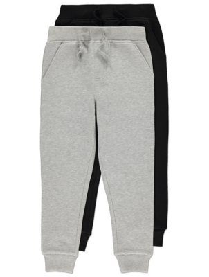 Grey and Black Joggers 2 Pack