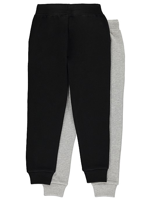 best wholesaler elegant in style classic style of 2019 Grey and Black Joggers 2 Pack