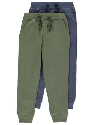 Khaki and Blue Assorted Joggers 2 Pack