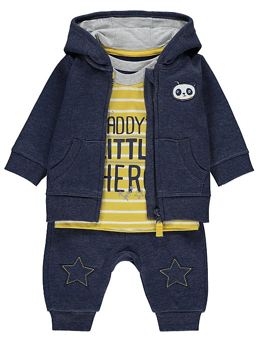 Hoodie T Shirt And Bottoms Outfit Set Baby George