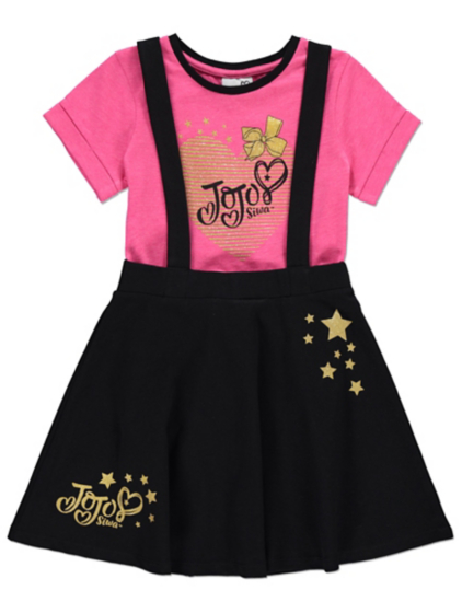 JoJo Siwa Pinafore Dress and T-shirt Set | Kids | George