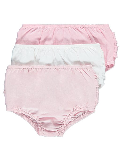 clear-cut texture meet clearance Pink Frilly Pants 3 Pack