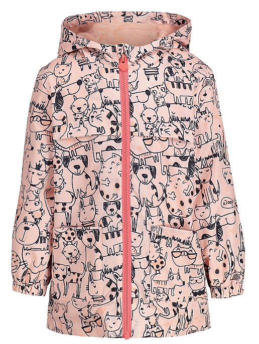 a53368dc1 Cat and Dog Print Hooded Mac