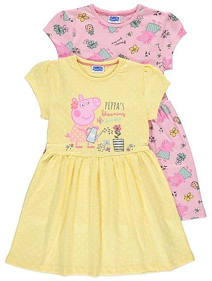 peppa pig jersey dresses 2 pack  kids  george