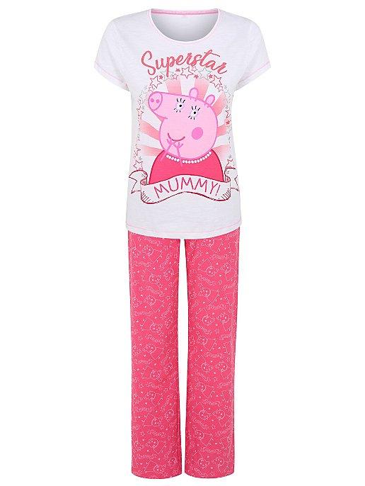 33ddc4fc2c792 Peppa Pig Superstar Mummy Pyjamas   Women   George