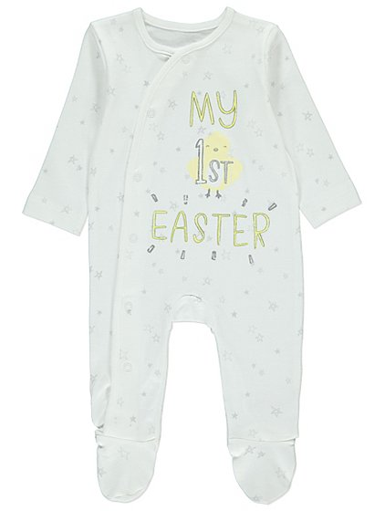 My 1st easter sleepsuit baby george negle