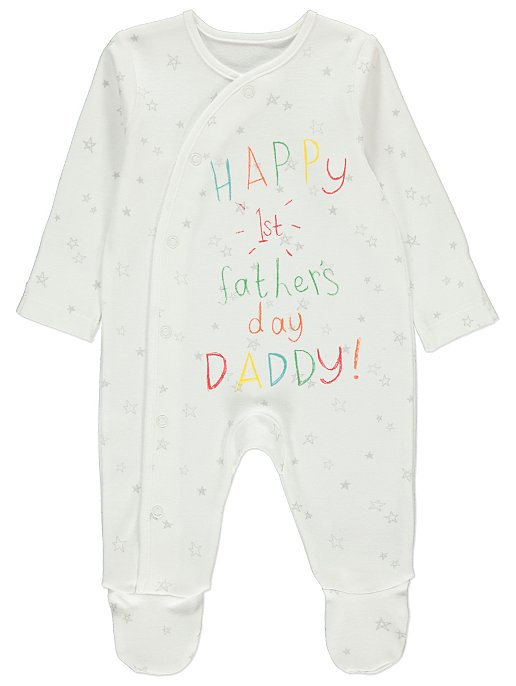 3197da09a First Father's Day Sleep Suit | Baby | George