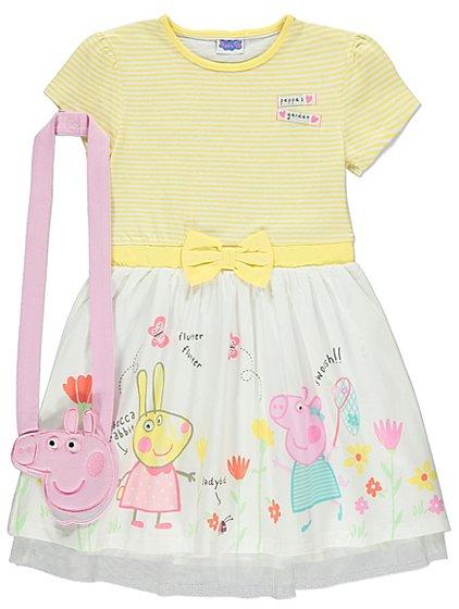 Peppa Pig Dress with Bag   Kids   George