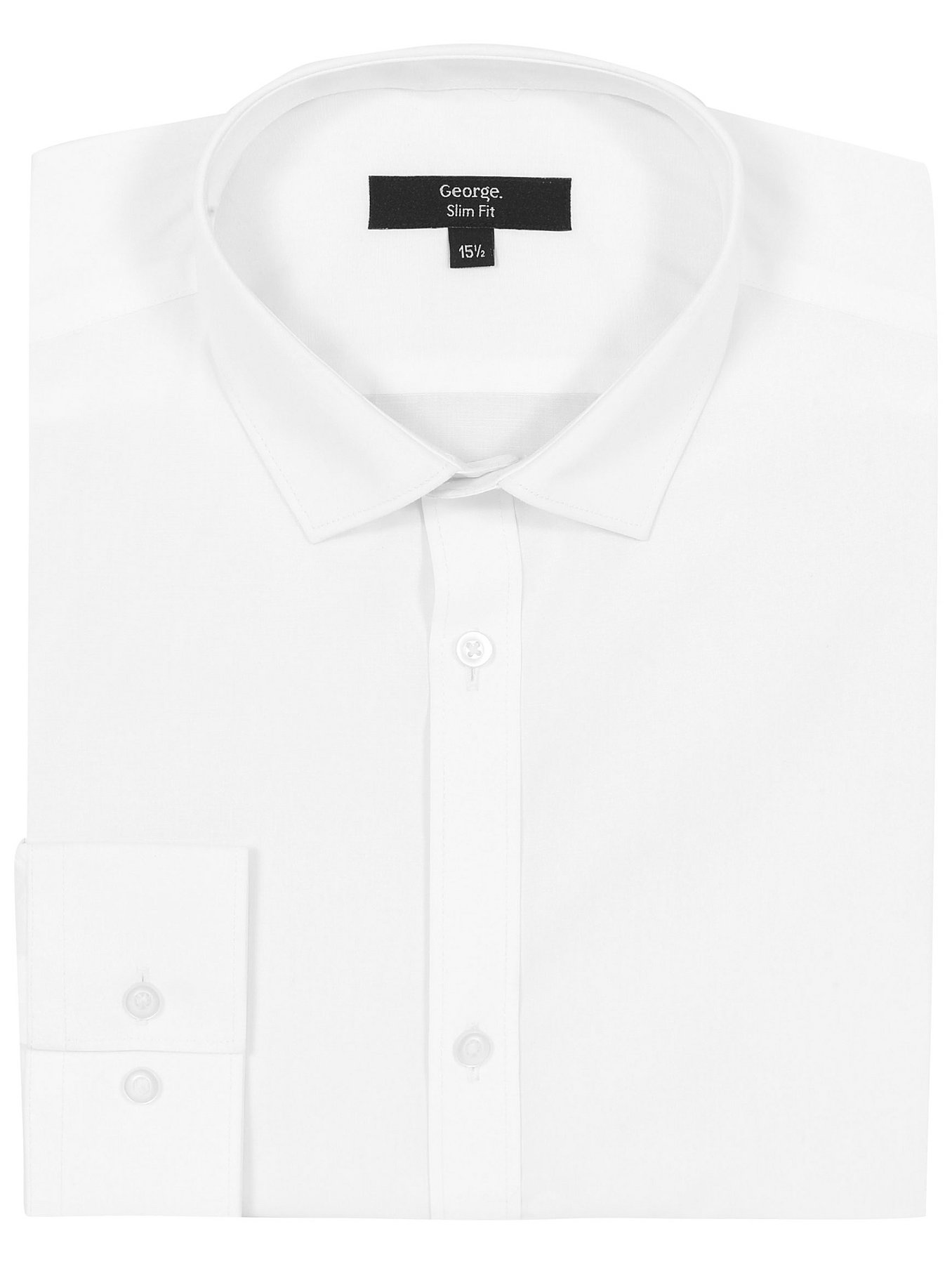 Tailor & Cutter Slim Fit Long Sleeve Shirt | Men | George at ASDA