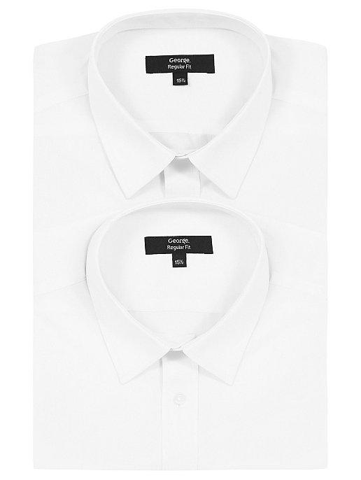 7b836a09c599b4 White Regular Fit Long Sleeve Shirts 2 Pack | Men | George