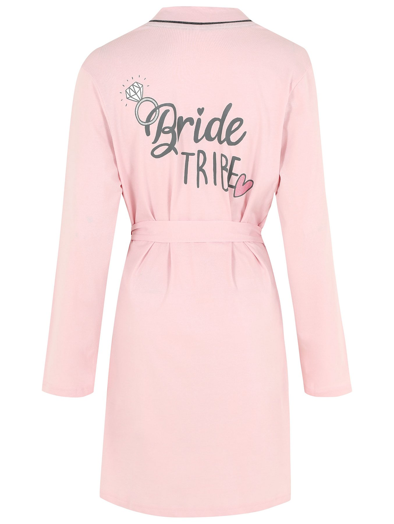 Pure Cotton Bride Tribe Dressing Gown Women George