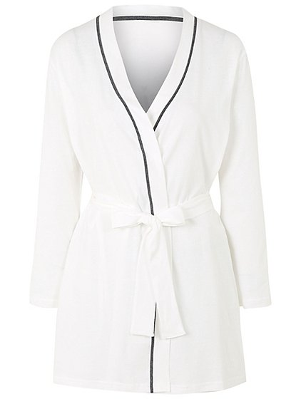 Pure Cotton Sparkling Bride Dressing Gown | Women | George