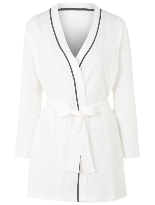 Pure Cotton Sparkling Bride Dressing Gown Women George