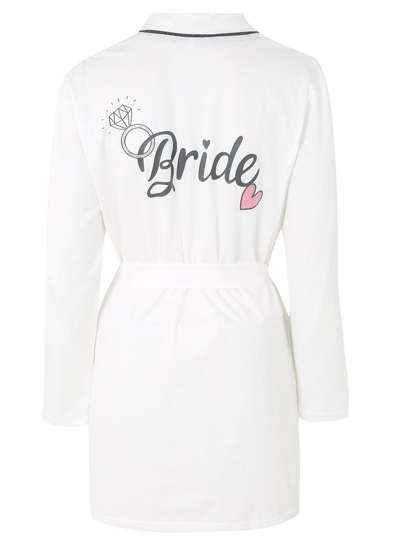 Pure Cotton Sparkling Bride Dressing Gown Women George