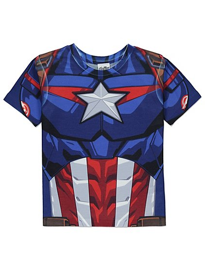 marvel captain america t shirt kids george. Black Bedroom Furniture Sets. Home Design Ideas