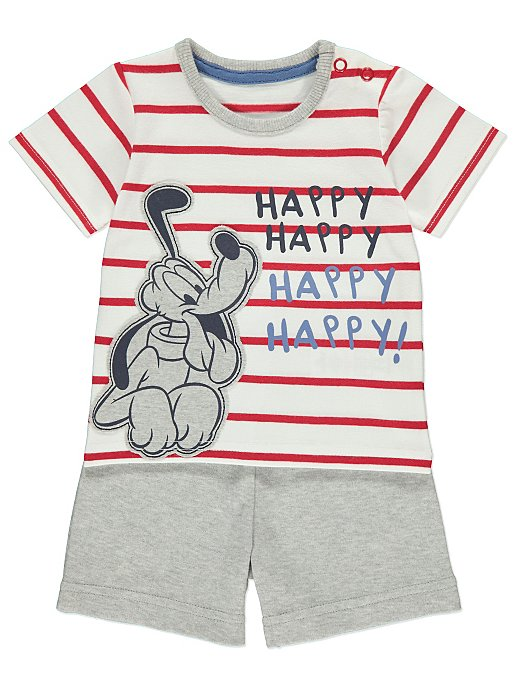 66106b38 Disney Pluto Top and Shorts Outfit | Baby | George