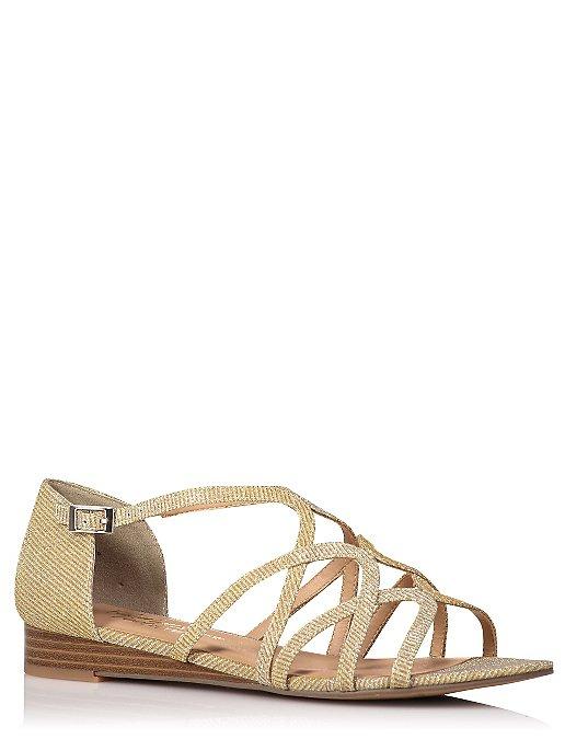 550c140cde1bd6 Glitter-Effect Strappy Sandals