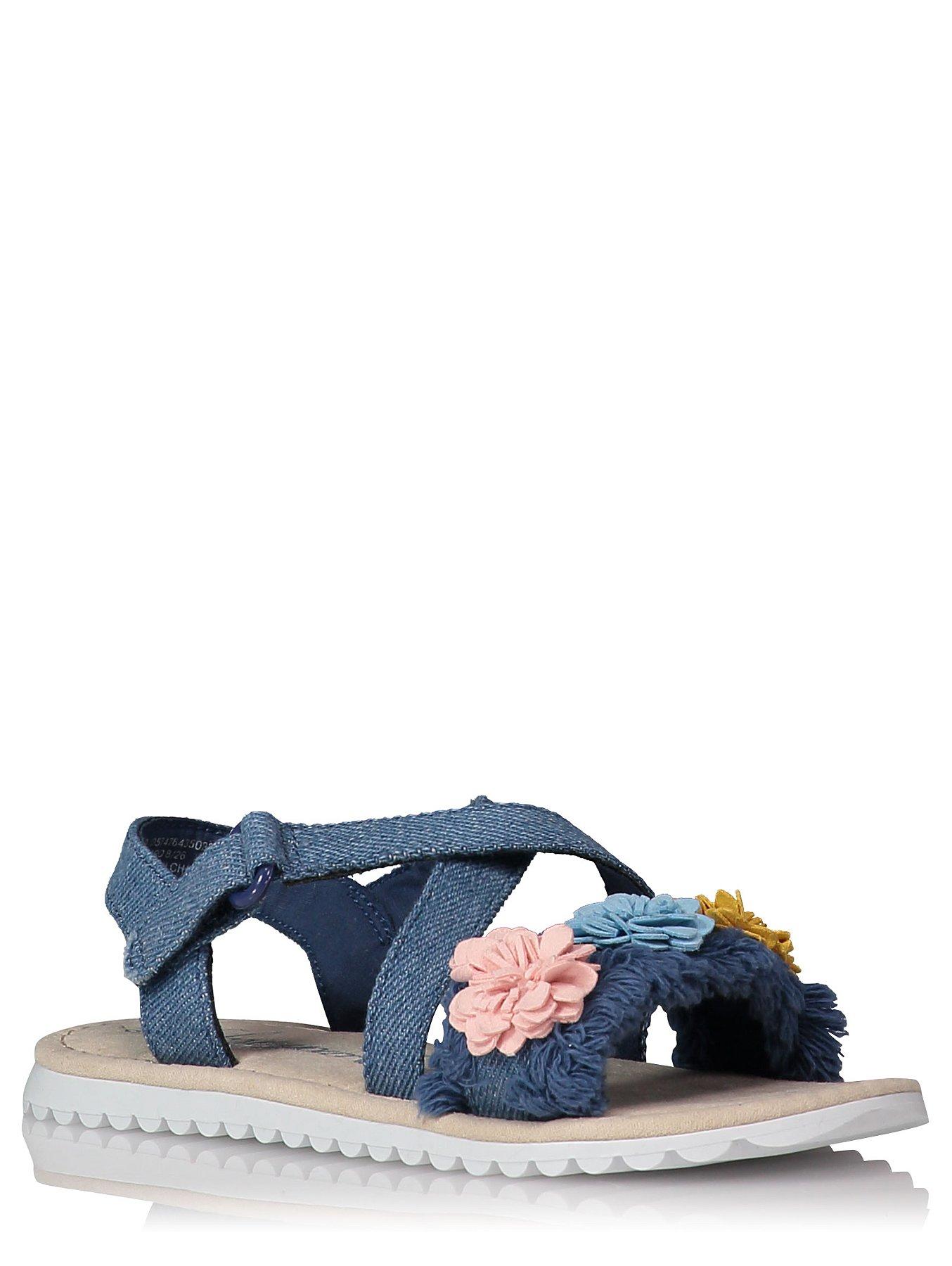 b5940c2f9c62c Floral Denim-look Sandals. Reset