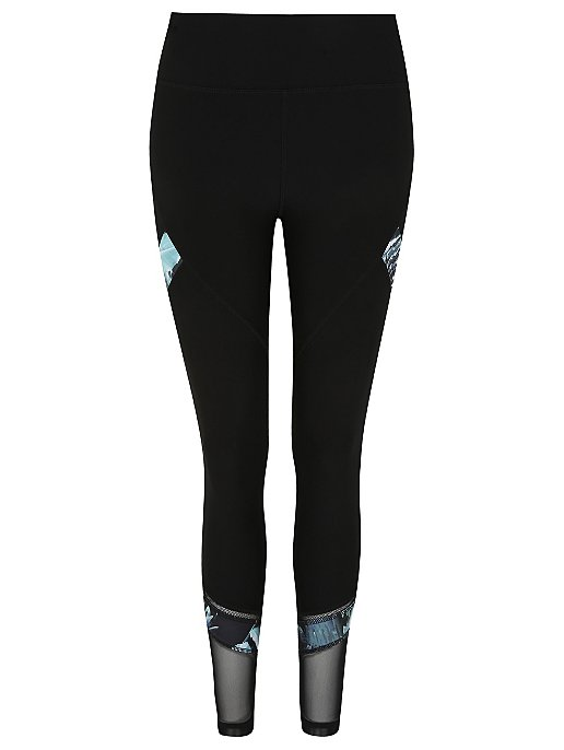 6bfad22c277744 Active Wear Mesh Panel Leggings | Women | George