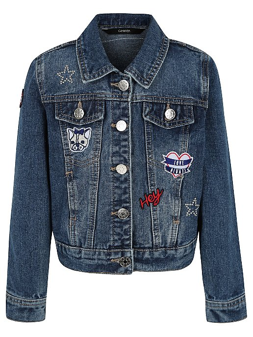 995e3270e Embroidered Patch Denim Jacket